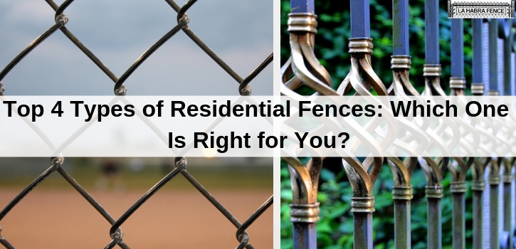 Residential Fences Which One Is Right for You