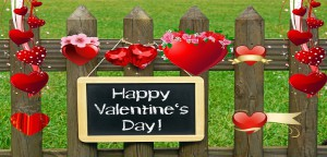 Decorate Fence in Valentine's Day