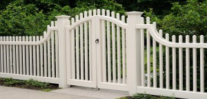 White Fence Gate
