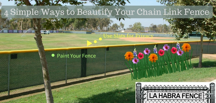 Beautify Your Chain Link Fence