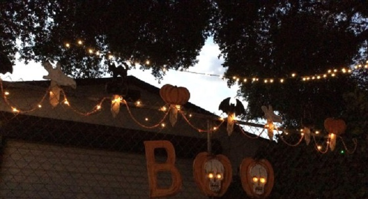 Spooky Touch to Your Chain Link Fence